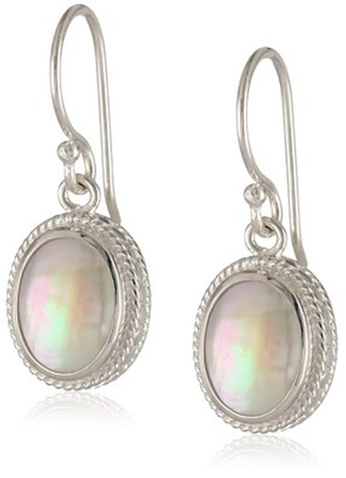 Sterling Silver Small Oval Drop Earrings by Anna Beck Designs in She's Funny That Way