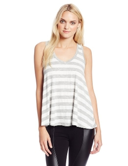 Women's Stripe Drape-Back Hem Tank Top by BCBGeneration in Unfriended