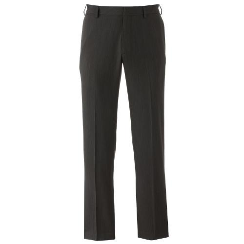 Studio Traveler Slim-Fit Stain-Release Performance Flat-Front Dress Pants by Van Heusen in Sabotage