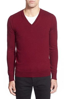 'Dockley' V-Neck Wool Sweater by Burberry Brit in American Horror Story