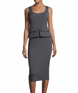 Sleeveless Peplum Sheath Midi Dress by Tom Ford in Suits