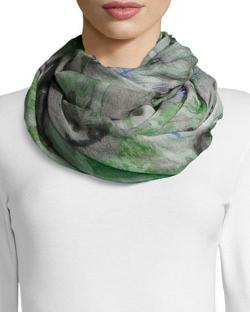 Blurred Floral-Print Scarf by Neiman Marcus in Little Fockers