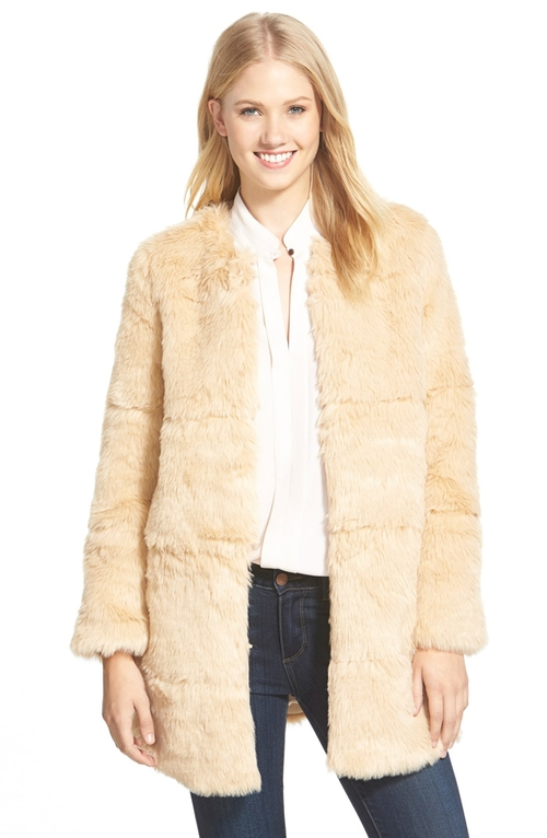 Faux Fur Coat by Love Token in That Awkward Moment
