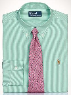 Slim-Fit Striped Dress Shirt by Polo Ralph Lauren in And So It Goes