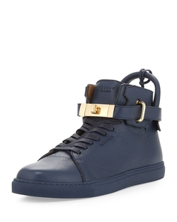 Leather High-Top Sneaker by Buscemi in Empire