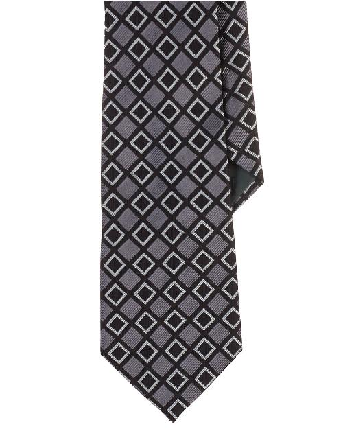 Patterned Silk Jacquard Tie by RALPH LAUREN in The Wolf of Wall Street
