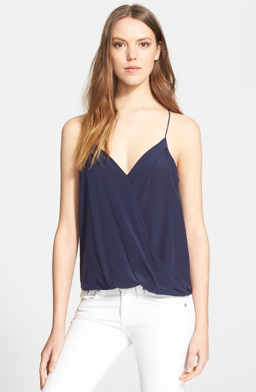 'Ally' Silk Camisole by Trina Turk in Dope