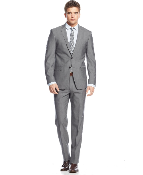 Grey Extra Slim-Fit Suit by DKNY in Ricki and the Flash