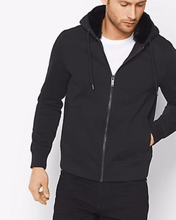Fur-lined Zip-Up Hoodie by Michael Kors Mens in Power