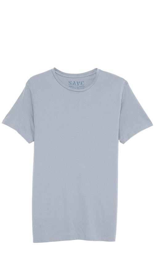 Khaki Short Sleeve Crew Neck T-Shirt by Save in What If