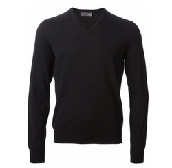 V-Neck Knit Sweater by Drumohr in The Flash