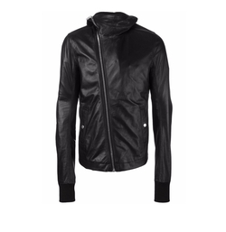Hooded Leather Jacket by Rick Owens in Power