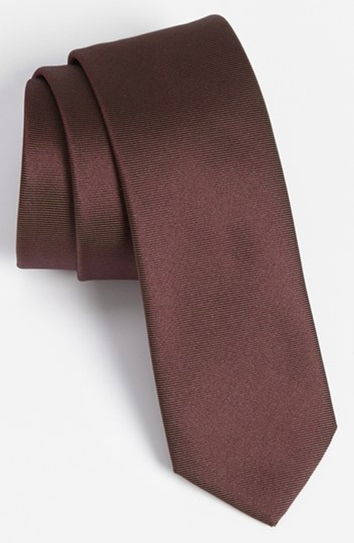 Woven Silk Tie by Hugo Boss in Anchorman 2: The Legend Continues