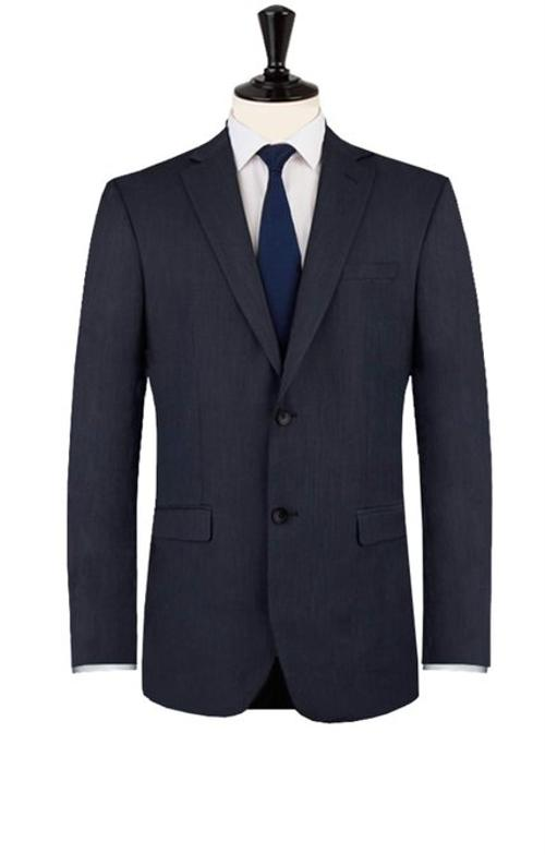 Mens Navy Blue Textured Suit Jacket by Alexander Dobell in Pain & Gain