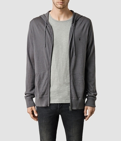 Mode Merino Zip Hoody Jacket by All Saints in Deadpool