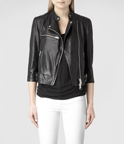 Turne Leather Biker Jacket by All Saints in Modern Family
