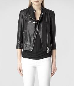Turne Leather Biker Jacket by All Saints  in Modern Family