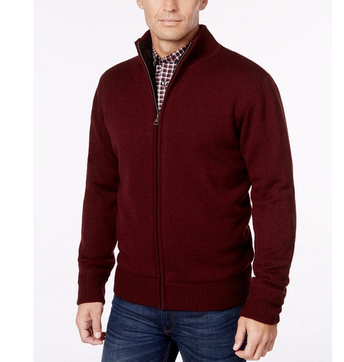 Lined Zip-Front Cardigan by Weatherproof in The Boss