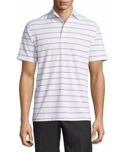 Performance Striped Short-Sleeve Polo Shirt by Peter Millar in Joshy
