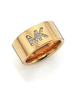 Fulton Logo Pavé Band Ring by Michael Kors in The Last Witch Hunter