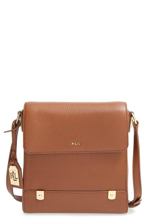 Leather Crossbody Bag by Lauren Ralph Lauren in Begin Again