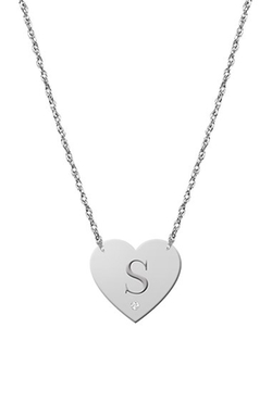 Diamond & Initial Pendant Necklace by Jane Basch Designs in My All American