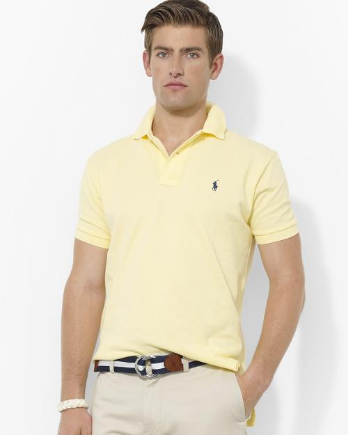 Classic Short-Sleeved Cotton Mesh Polo - Regular Fit by Polo Ralph Lauren in Hall Pass