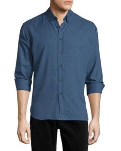 Murphy Long-Sleeve Sport Shirt by Billy Reid  in Flaked