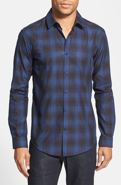 'Nemos' Plaid Sport Shirt by Boss Hugo Boss in That Awkward Moment