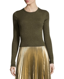 Rene Metallic Ribbed Sweater by A.L.C. in The Flash