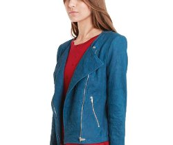 Jarde Nasher Blue Leather Jacket by Theyskens Theory in Fifty Shades of Grey