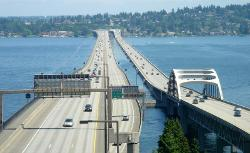 Seattle, WA by Lacey V. Murrow Memorial Bridge in Laggies
