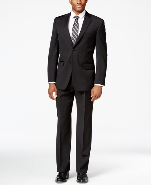 Black Solid Classic-Fit Suit by Tommy Hilfiger in Jack Reacher