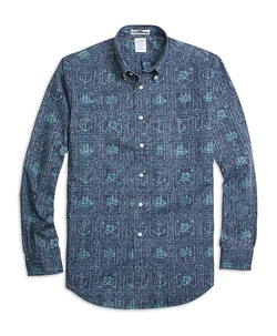 Nautical Print Sport Shirt by Brooks Brothers in Love Actually
