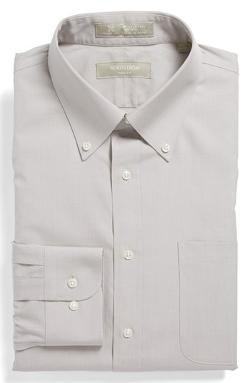 Smartcare Wrinkle Free Trim Fit Dress Shirt by Nordstrom in Edge of Tomorrow