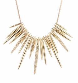 Spike Bib Necklace by Alexis Bittar in Gossip Girl