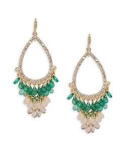 Beaded Chandelier Earrings by A.B.S. By Allen Schwartz in Grace and Frankie