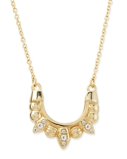 Gold-Plated Mini Tribal Spike Necklace by Pamela Love in Billions