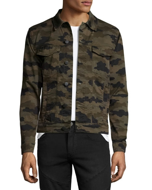 Gorn Trucker Camouflage Jacket by J Brand in The Fate of the Furious