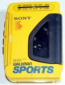 Radio Cassette Player Walkman Sports WM-AF54 by Sony in Hot Tub Time Machine 2