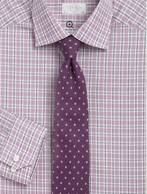 Polka Dot Silk Tie by Eton of Sweden in Silver Linings Playbook