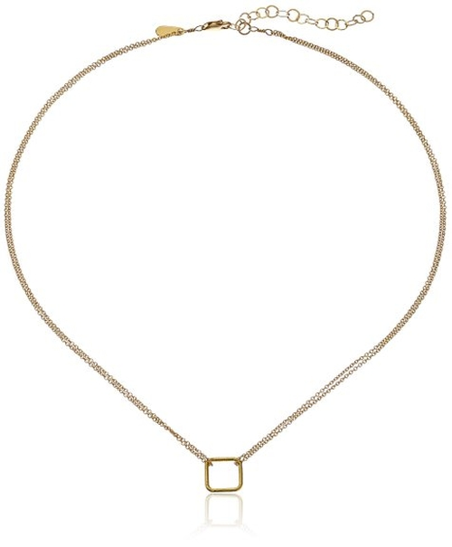 Tiny Square Necklace by Adina Reyter in Pretty Little Liars - Season 6 Episode 8