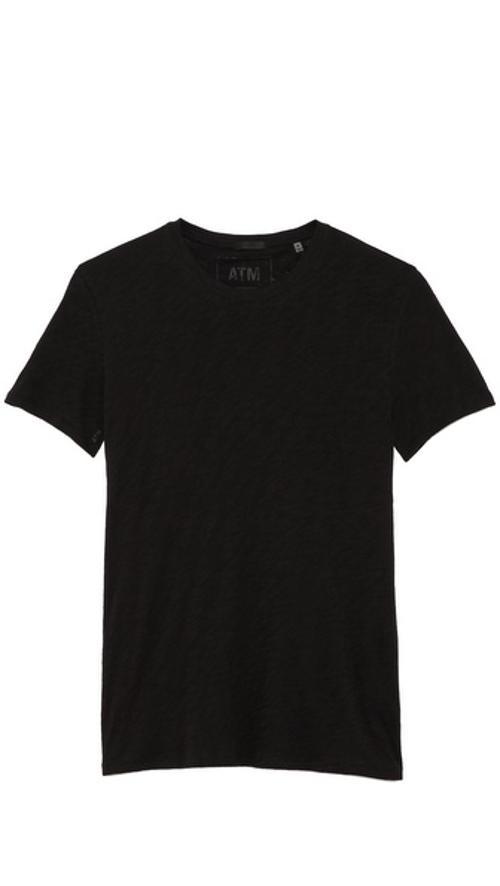 Crew Neck Slub Jersey T-Shirt by ATM Anthony Thomas Melillo in Contraband