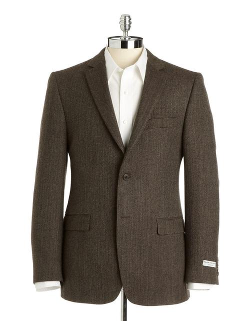 Slim-Fit Wool Herringbone Sport Coat by BLACK BROWN 1826 in Jersey Boys