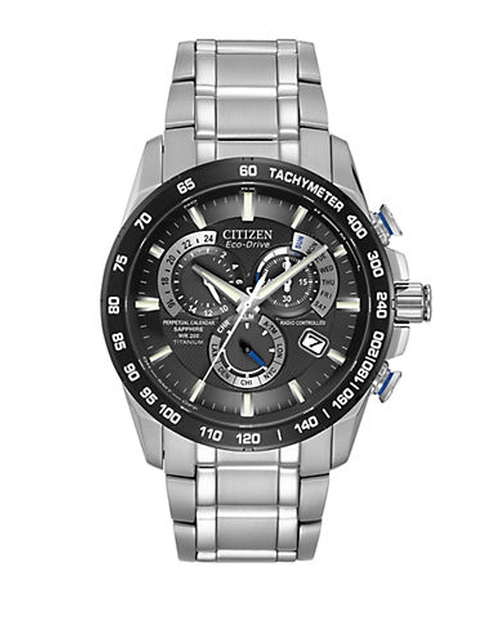 Eco-Drive Titanium Perpetual Chronograph Watch by Citizen in Suits - Season 5 Episode 2