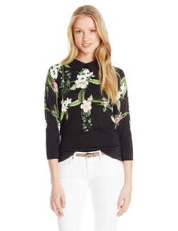 Nellia Secret Trellis Collar Knit Sweater by Ted Baker in Chelsea