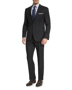 Johnstons Lennon Tonal-Grid Slim-Fit Basic Suit by Boss Hugo Boss in Gold