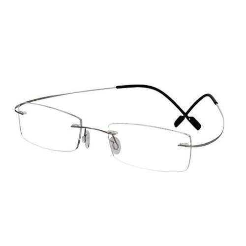 Rimless Rectangle Reading Glasses by EyeBuyExpress in The Best of Me