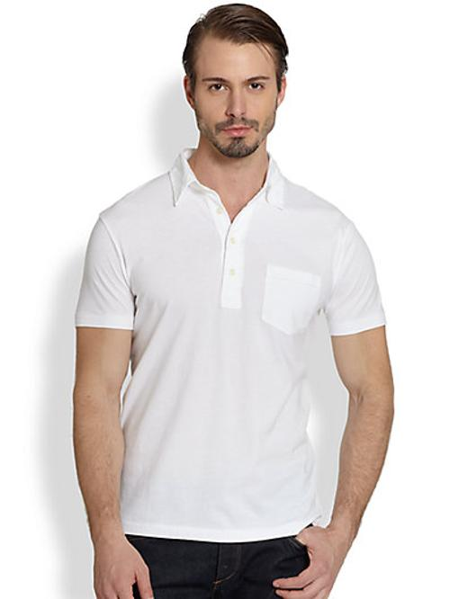 Solid Jersey Polo Shirt by Polo Ralph Lauren in The Hundred-Foot Journey