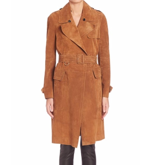 Hawkesley Suede Trench Coat by Burberry in Power - Season 3 Preview